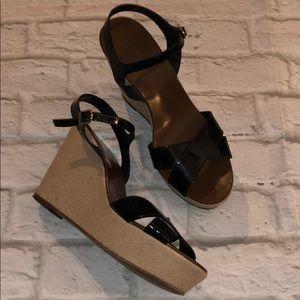 J.Crew patent leather platform sandals sz 8